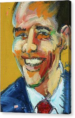 Obama Canvas Print by Les Leffingwell