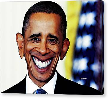 Obamacaricature Canvas Print by Anthony Caruso
