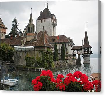Oberhofen Castle Switzerland Canvas Print by Marilyn Dunlap