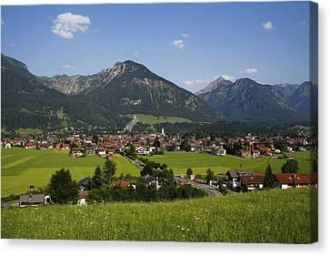Oberstdorf, Allgäu Alps, Bavaria Canvas Print