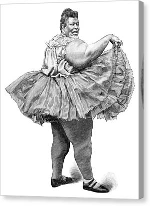 Obese Woman, 19th Century Canvas Print by