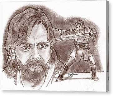Obi Wan Kenobi Episode II Canvas Print by Chris  DelVecchio