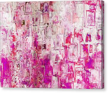 Oblong Abstract I Canvas Print by Debbie Portwood
