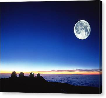 Keck Telescope Canvas Print - Observatories At Mauna Kea, Hawaii by David Nunuk