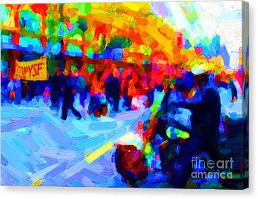 Occupy Sf In Abstract Canvas Print by Wingsdomain Art and Photography
