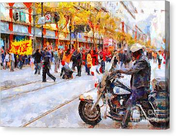 Occupy Sf Market Street . 7d9738 Canvas Print by Wingsdomain Art and Photography