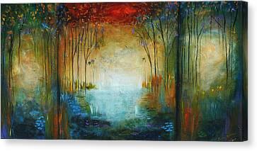 Ocean And Garden Canvas Print