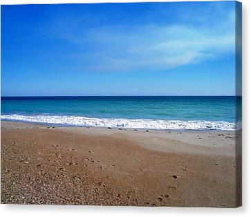 Ocean Blue Canvas Print by Joan Meyland
