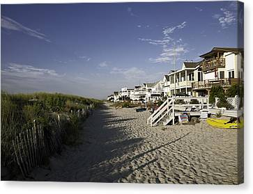 Canvas Print featuring the photograph Ocean City Nj Sun Rise by Paul Plaine