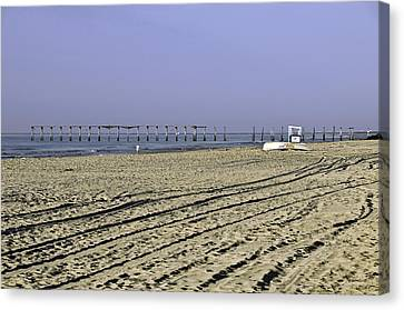 Canvas Print featuring the photograph Ocean City Nj The Old Pier by Paul Plaine