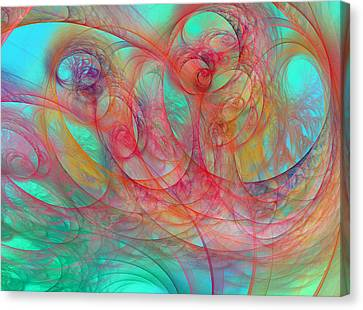 Ocean Currents I Of II Canvas Print by Betsy Knapp