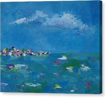 Canvas Print featuring the painting Ocean Delight by Judith Rhue