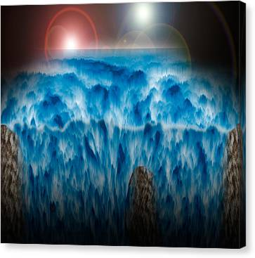 Ocean Falling Into Abyss Canvas Print by Christopher Gaston