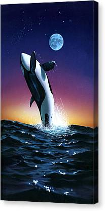 Ocean Leap Canvas Print by MGL Studio - Chris Hiett
