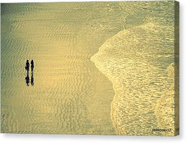 Ocean Of Words Canvas Print by Paulo Zerbato