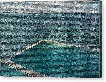 Ocean Pool Canvas Print by Paula Greenlee