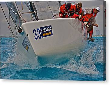 Ocean Racing Southern Florida Canvas Print by Steven Lapkin