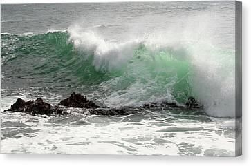 Canvas Print featuring the photograph Ocean Spray by Michael Rock