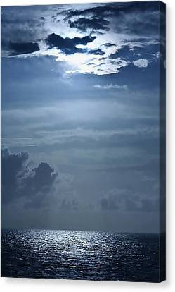 Ocean Sunrise Canvas Print by Louise Mingua