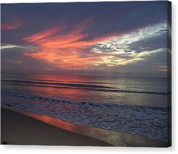 Canvas Print featuring the photograph Ocean Sunrise by Sheila Silverstein