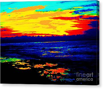 Canvas Print featuring the photograph Ocean Sunset by Jasna Gopic