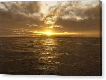 Ocean Sunset Canvas Print by Mark Greenberg