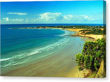 Canvas Print featuring the photograph Ocean Walk by Dennis Lundell