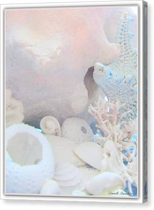 Ocean Wisper In Cotton Candy Color Canvas Print by Danielle  Parent