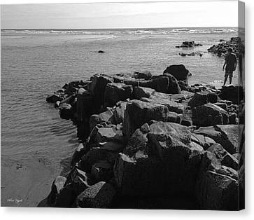 Canvas Print featuring the photograph Oceanside Beach by Chriss Pagani