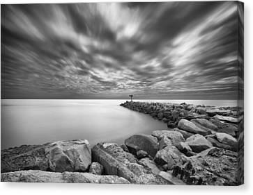 Oceanside Harbor Jetty 2 Canvas Print by Larry Marshall