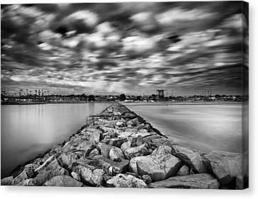 Oceanside Harbor Jetty 3 Canvas Print by Larry Marshall