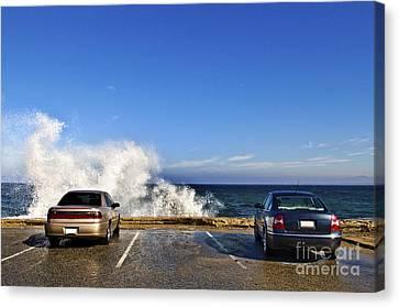 Oceanside Parking Canvas Print by Eddy Joaquim