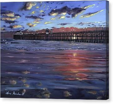 Oceanside Pier Canvas Print by Lisa Reinhardt