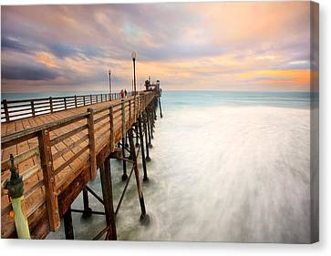 Oceanside Sunset 5 Canvas Print by Larry Marshall
