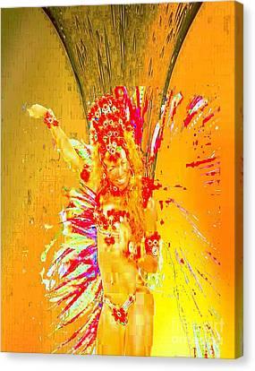 Ochun Miel Canvas Print by Liz Loz