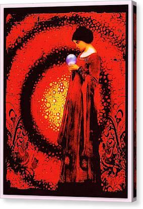 October Moon Canvas Print by Janiece Senn