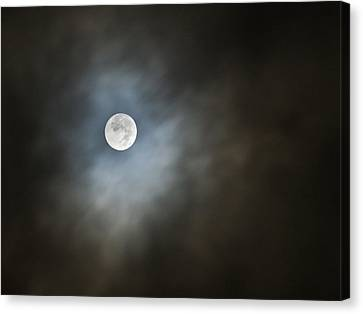 October Moon Canvas Print by Steve Sperry