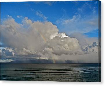 Canvas Print featuring the photograph October Rainbow In Maui by Kirsten Giving