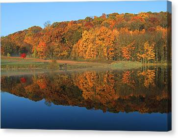 October Scene Canvas Print by Karol Livote