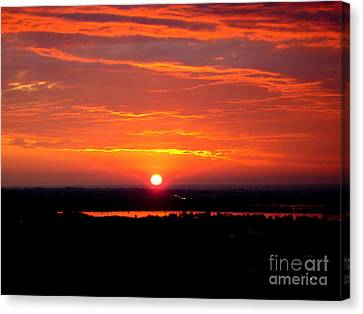October Sunrise Canvas Print by Marilyn Magee