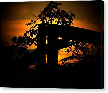 October Sunset Canvas Print by Michael L Kimble