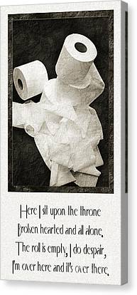 Ode To The Spare Roll Canvas Print by Andee Design