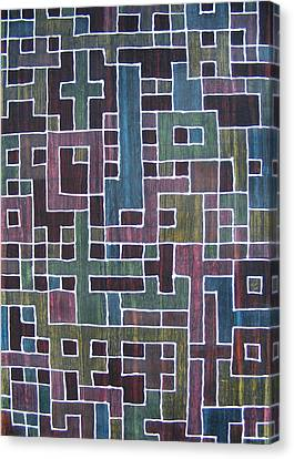 Ode To Trapped Boundary Canvas Print by Pam Tapp