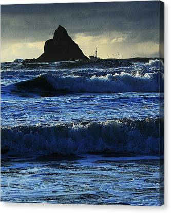 Off Arch Cape Canvas Print by Steven A Bash