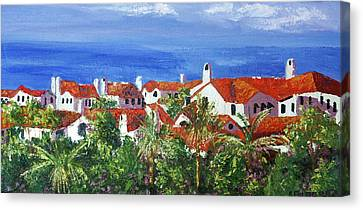 Off The Coast Canvas Print by Anthony Falbo