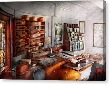 Office - The Purser's Room Canvas Print by Mike Savad