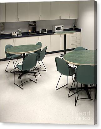 Office Break Room Canvas Print by Will & Deni McIntyre