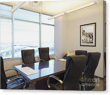 Office Meeting Room Canvas Print by Dave & Les Jacobs