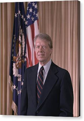 Official Portrait Of President Jimmy Canvas Print by Everett