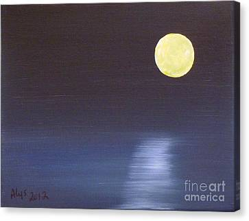 Offset Moon Canvas Print by Alys Caviness-Gober